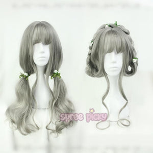Grey Lolita Harajuku Long Curl Wig SP166816