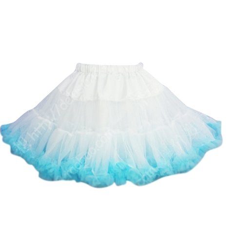 HIGH QUALITY Lolita Cosplay  Fluffy TUTU Dream Rainbow A shape Pettiskirt SP130218 - SpreePicky  - 19