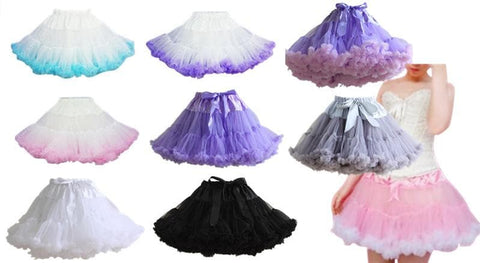 HIGH QUALITY Lolita Cosplay  Fluffy TUTU Dream Rainbow A shape Pettiskirt SP130218 - SpreePicky  - 2