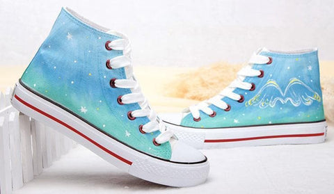 c9a2020f7dd HandPainted Rainbow Gradient Canvas Shoes SP168545 Lovely