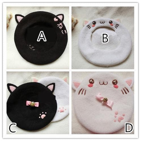 Hand Made Kawaii Neko Berets Cap SP153328 - SpreePicky  - 2