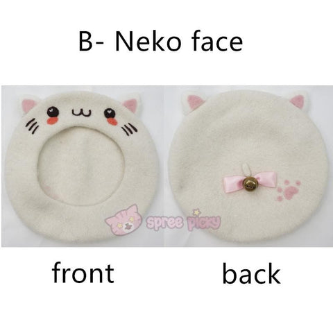 Hand Made Kawaii Neko Berets Cap SP153328 - SpreePicky  - 3