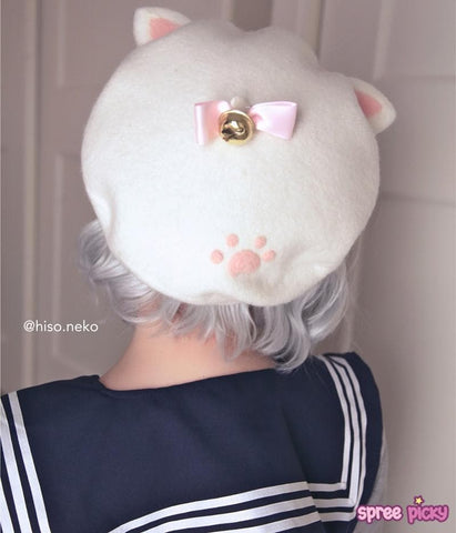Hand Made Kawaii Neko Cat Berets Cap SP153328