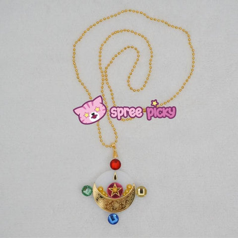 Handmade Sailor Moon Manga Usagi Transformation Make Up Necklace SP140923