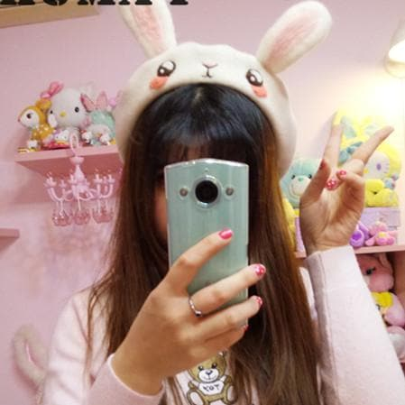 Handmake Kawaii Rabbit Beret Hat SP165259