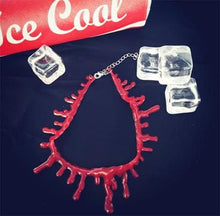 Load image into Gallery viewer, Harajuku Blood Drip Gel Choker Necklace SP167706