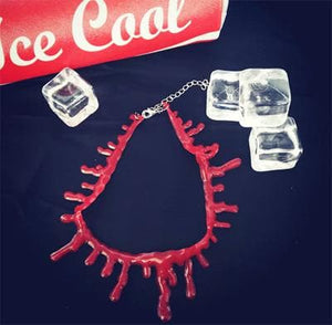 Harajuku Blood Drip Gel Choker Necklace SP167706