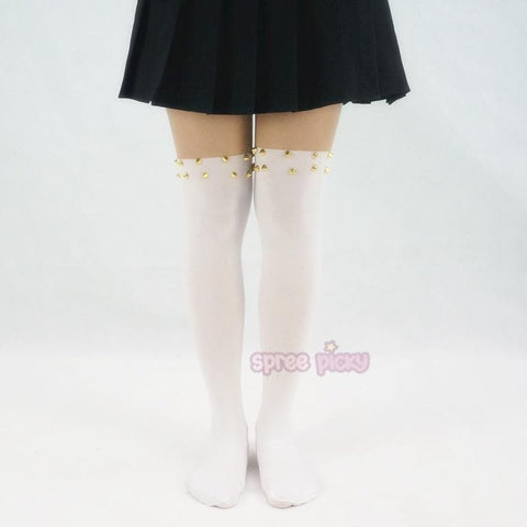 Harajuku Fashion Sexy Riveting Fake Over Knee Tights SP140375