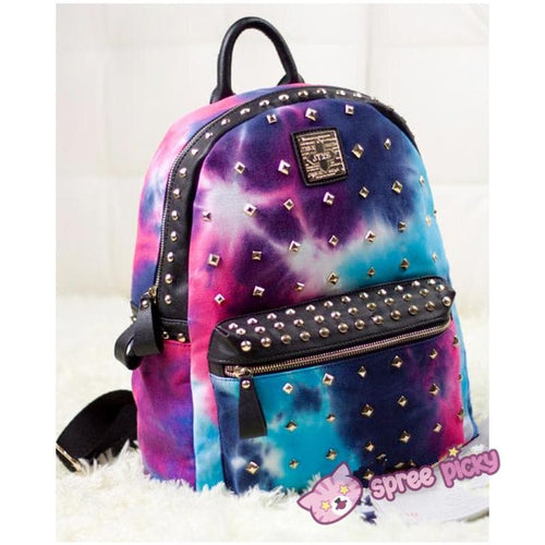 Harajuku Galaxy Starry Rivet Backpack SP141120 - SpreePicky  - 1