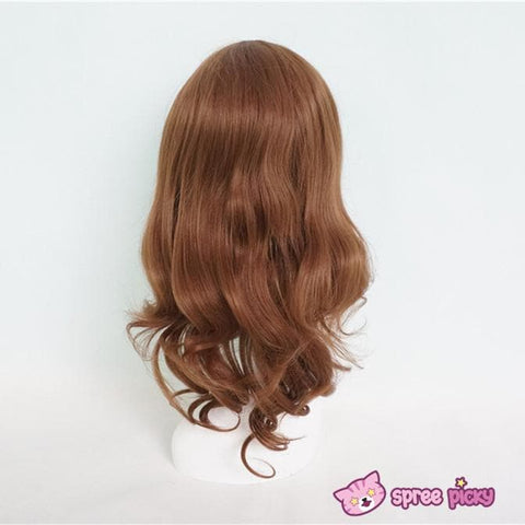 Harajuku Lolita Cosplay Brown Curly Wig 20INCH SP130052 - SpreePicky  - 4