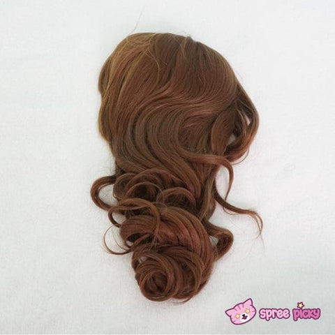 Harajuku Lolita Cosplay Brown Curly Wig 20INCH SP130052 - SpreePicky  - 5