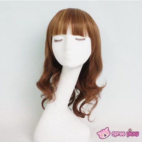 Harajuku Lolita Cosplay Brown Curly Wig 20INCH SP130052 - SpreePicky  - 2