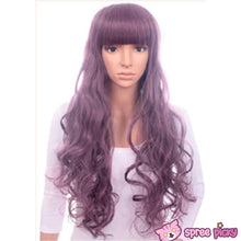 Load image into Gallery viewer, Harajuku Lolita Cosplay Dark Purple Curly Long Wig 27INCH SP130005 - SpreePicky  - 3