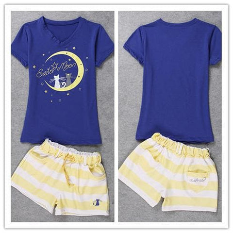 Harajuku Sailor Moon Pajamas Leisure Home Wear Set SP140649 - SpreePicky  - 5