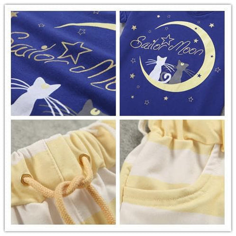 Harajuku Sailor Moon Pajamas Leisure Home Wear Set SP140649 - SpreePicky  - 7