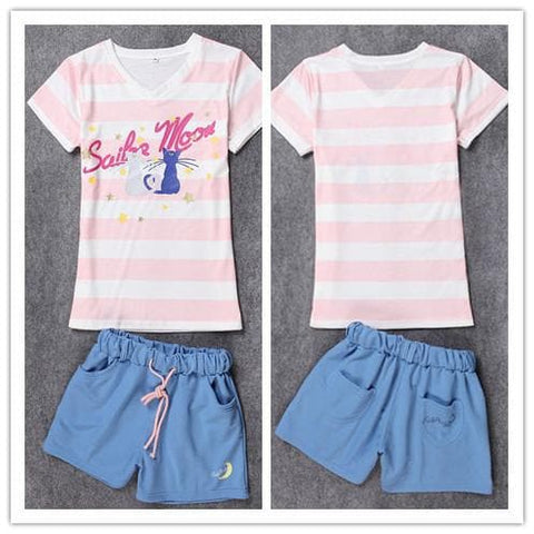 Harajuku Sailor Moon Pajamas Leisure Home Wear Set SP140649 - SpreePicky  - 3