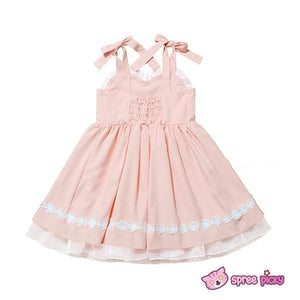 Pink/Blue Heart Shape Strape Maid Dress SP140919 - SpreePicky  - 4