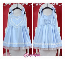 Load image into Gallery viewer, Pink/Blue Heart Shape Strape Maid Dress SP140919 - SpreePicky  - 5