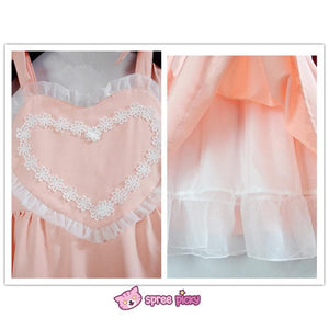 Pink/Blue Heart Shape Strape Maid Dress SP140919 - SpreePicky  - 8