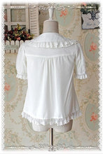 Load image into Gallery viewer, M/L  [INFANTA] Lolita Cream White Cutie Blouse SP152446 - SpreePicky  - 2
