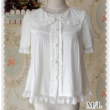 M/L  [INFANTA] Lolita Cream White Cutie Blouse SP152446