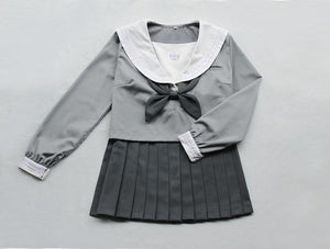 Japanese Grey Sailor Uniform Top/Skirt SP164936/SP164937 - SpreePicky  - 5