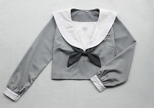 Japanese Grey Sailor Uniform Top SP164937 - SpreePicky  - 2