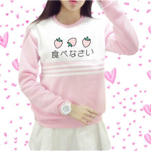 Load image into Gallery viewer, Japanese Pinky Strawberry Jumper SP166118 Kawaii Aesthetic Fashion - SpreePicky