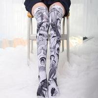 Kawaii Ahego Velvet Long Socks S12686