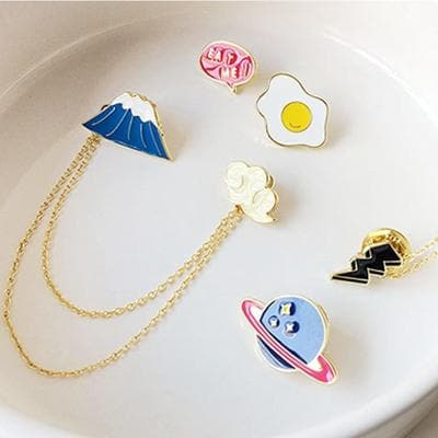 Kawaii Animal Cartoon Brooch Pin SP1812196