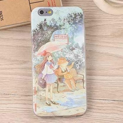 Kawaii Anime Pattern Silica Gel Iphone Phone Case SP165868