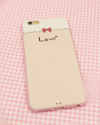 Kawaii Bow/Strawberry Silica Gel Phone Case SP166296