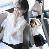 Kawaii Bow Laced Blouse/Skirt  SP1710313