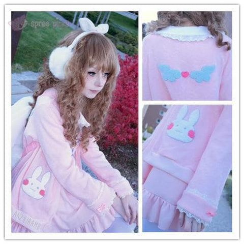 Kawaii Bunny Blouse/Skirt/Sweater SP153543 - SpreePicky  - 2