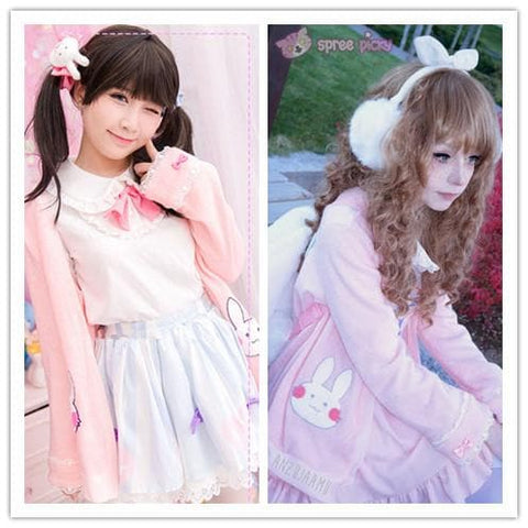 Kawaii Bunny Blouse/Skirt/Sweater SP153543 - SpreePicky  - 1