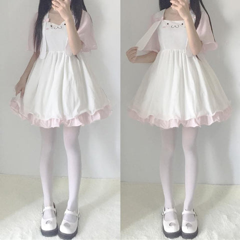 Kawaii Bunny Chiffon Dress SP1812097