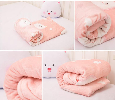 Kawaii Cartoon Beding Plush Blanket SP165885