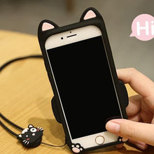 Load image into Gallery viewer, Kawaii Cartoon Bow Ring Phone Case SP1711212