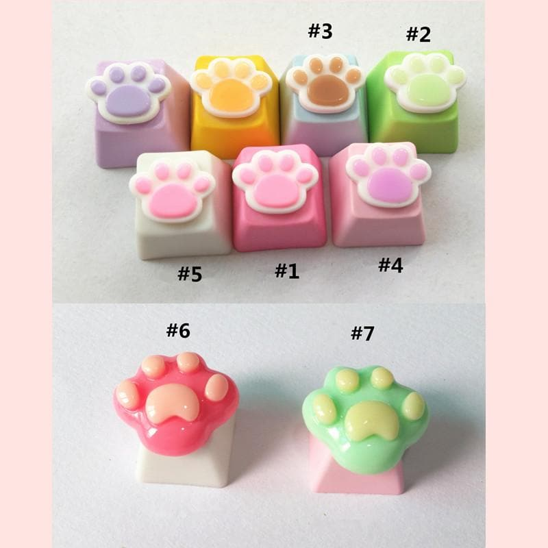 adcc69ad081 Load image into Gallery viewer, Kawaii Cartoon Cat Paw Key Cap SP1812144 .