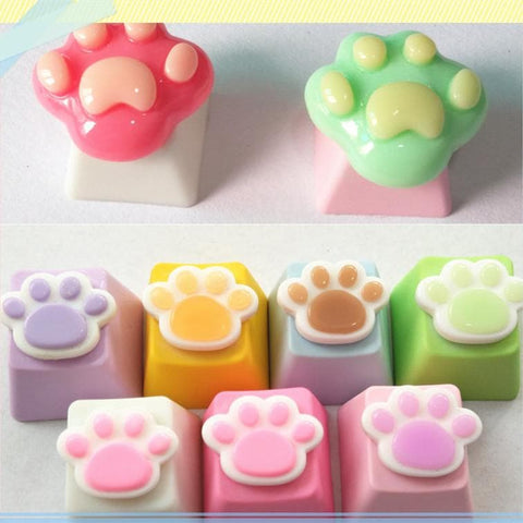 Kawaii Cartoon Cat Paw Key Cap SP1812144