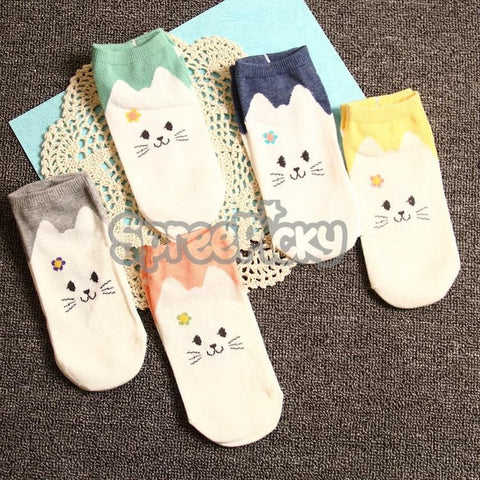 Kawaii Cartoon Cat Socks SP167755