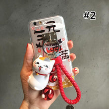 Load image into Gallery viewer, [Nyanko Sensei] Lucky Fortune Cat Finger Ring Holder Phone Case SP165061