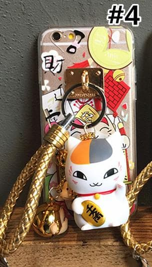 Nyanko Sensei Lucky Fortune Cat Finger Ring Holder Phone