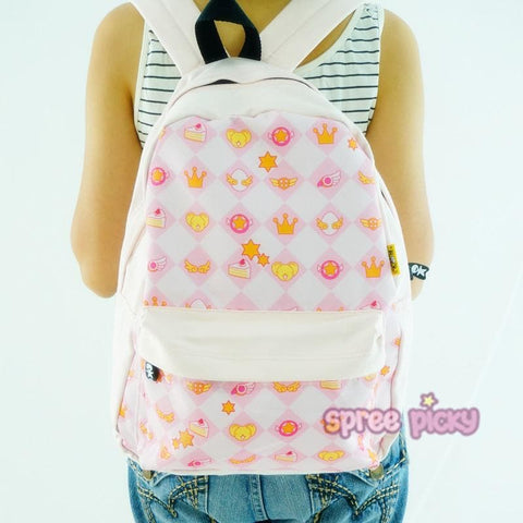 Kawaii Cartoon Pink School Backpack SP167405
