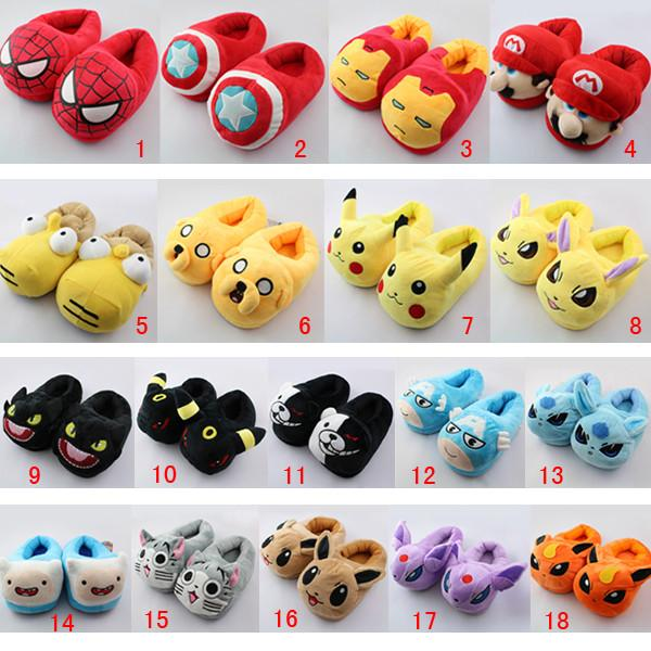 Kawaii Cartoon Warmming Fleece Shoes Home-wear Slipper SP178684