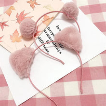 Load image into Gallery viewer, Kawaii Cat Ear Plush Ball Hair Hoop SP1812342