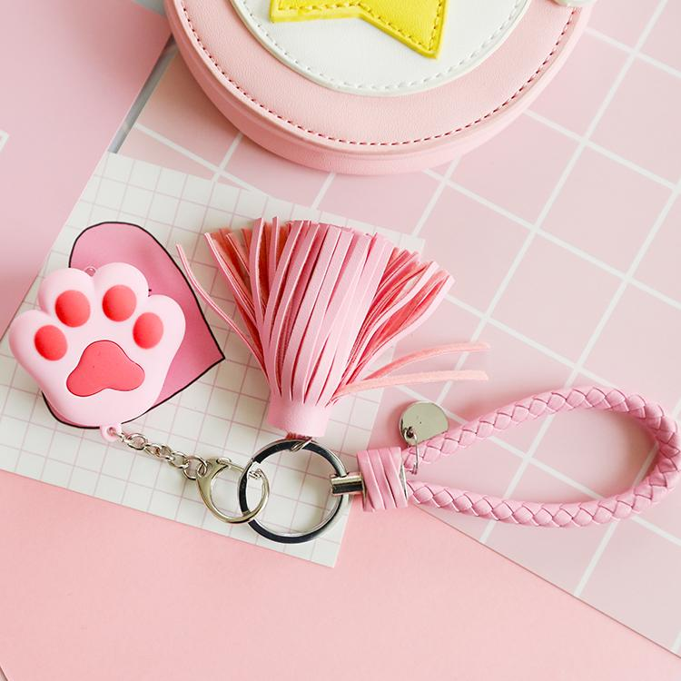Kawaii Cat Paw Charm Keychain SP1711208
