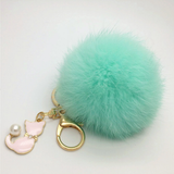Kawaii Cat Plush Ball Pom Pom Keychain SP1812013