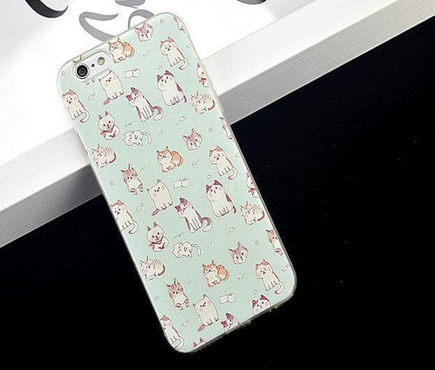 Kawaii Cat Printing Phone Case SP166175