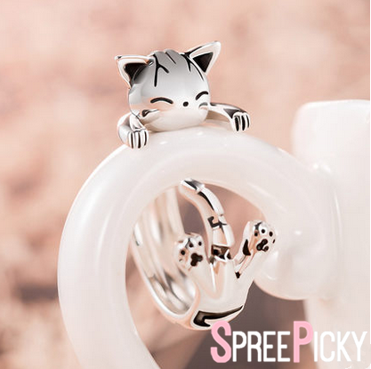 Kawaii Chi's Adjustable Silver Ring SP178822